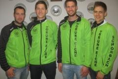 (von links) Christian Baur, Stefan Mahl, Christian Mahl und Peter Korntheur